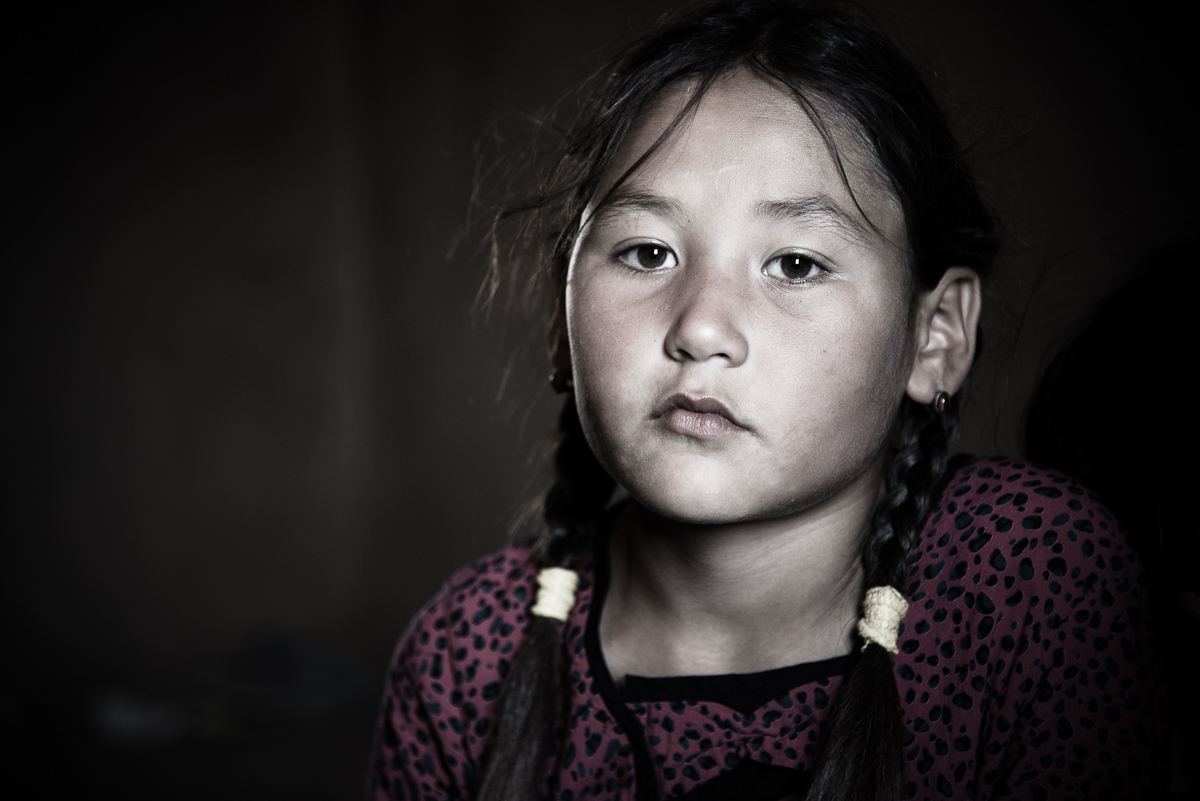 Portret van Turkmeens meisje