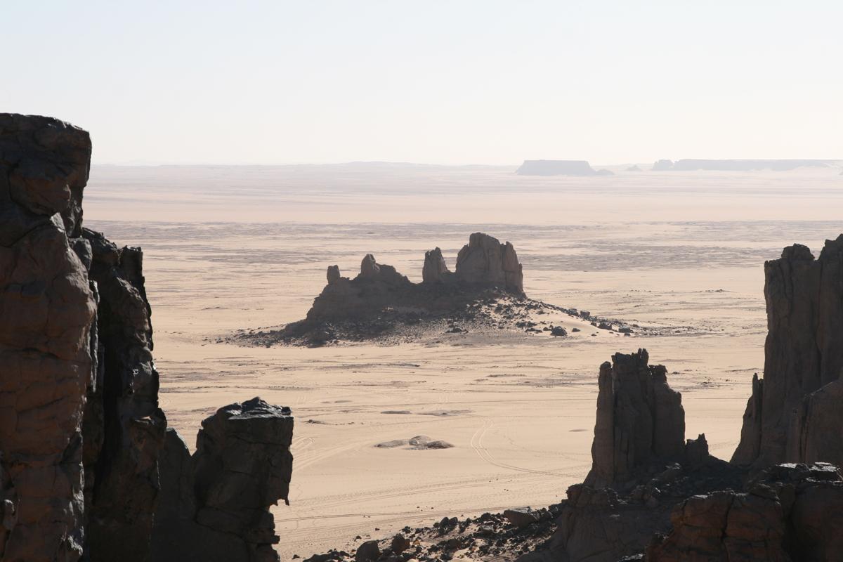 Uitzicht over de woestijn in Algerije