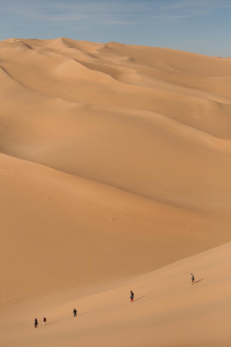 Rennen door de duinen van Erg Admer