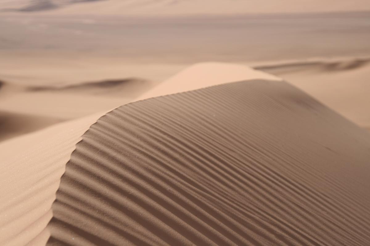 Kunst van een zandduin in Algerije