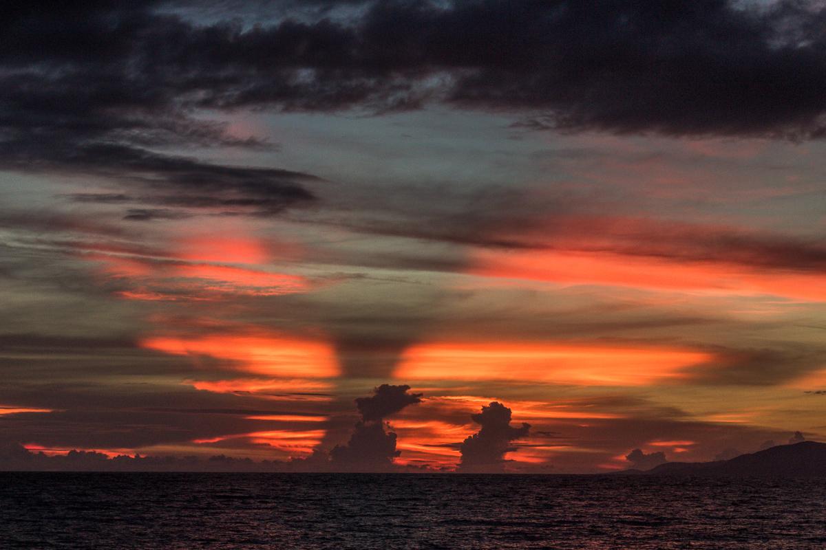 Zonsondergang op de Bandazee
