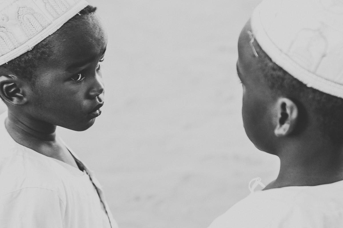 Twee jongens in Khartoum, de hoofdstad van Soedan