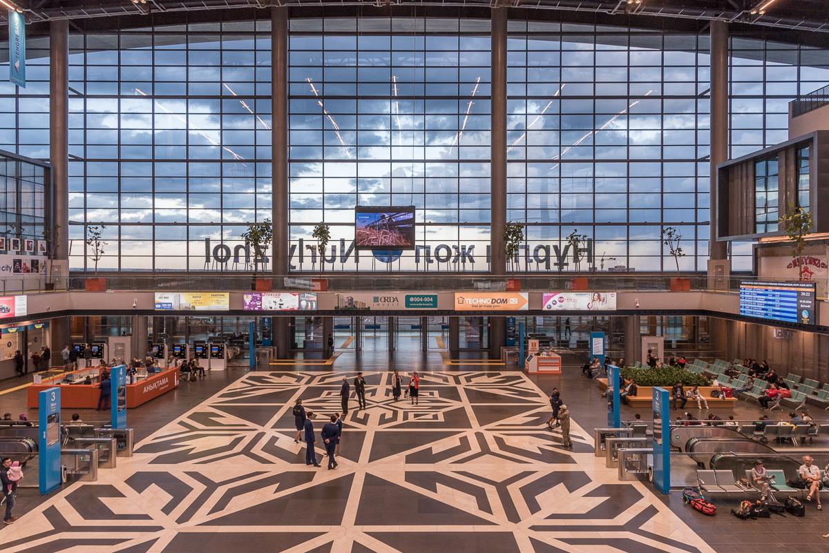 Nieuw treinstation in Astana