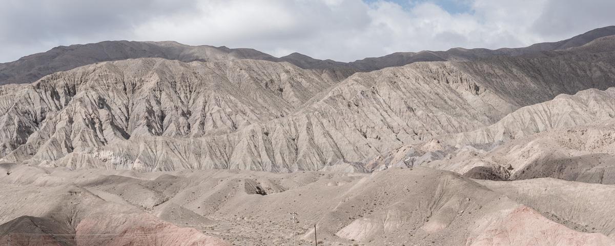 Grillige bergen vlakbij bij Kerman
