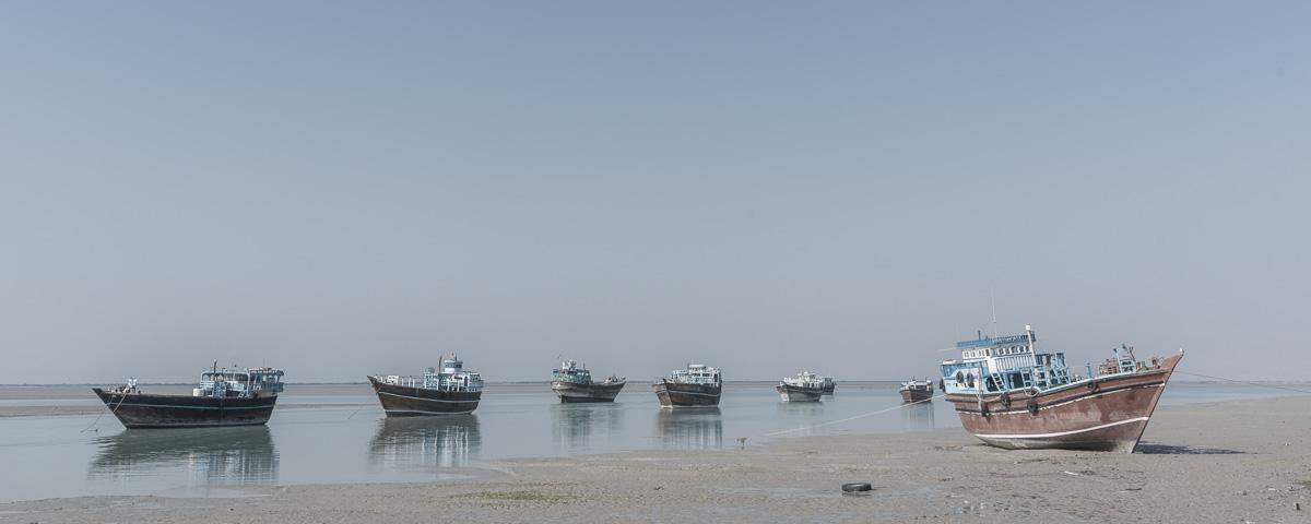 Boten op Qeshm-eiland