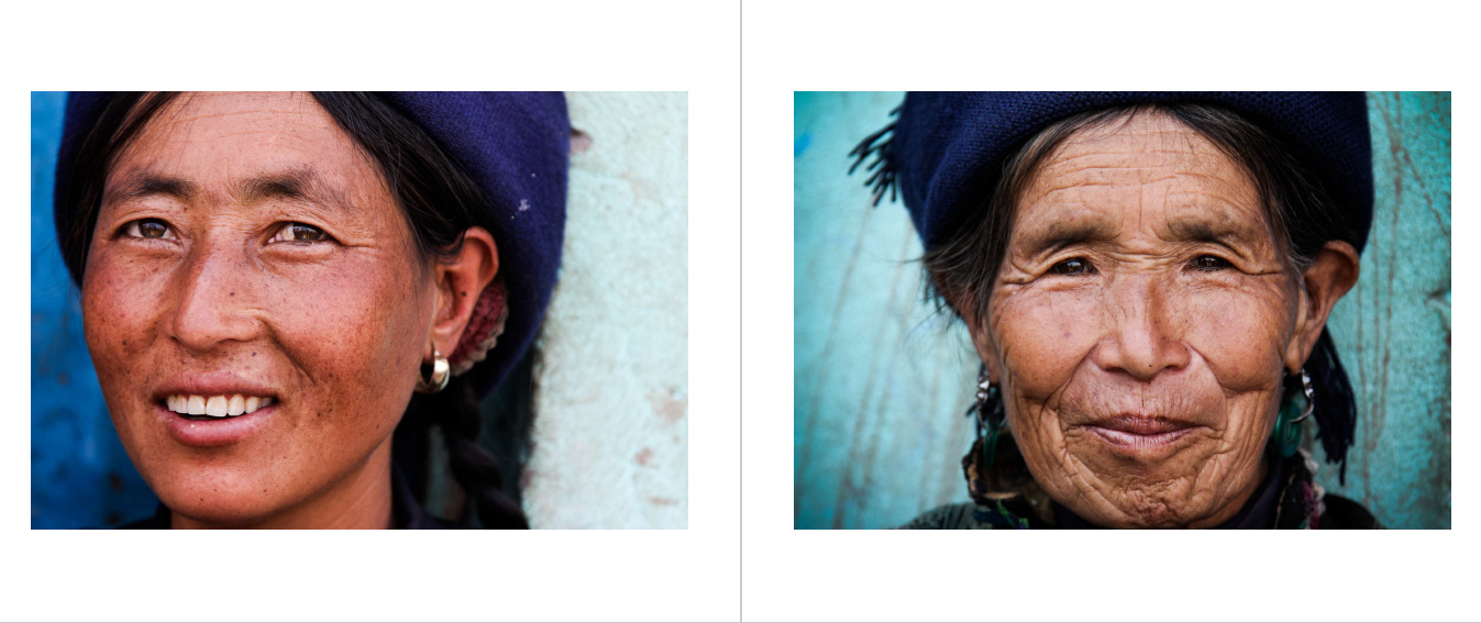 Portret van twee vrouwen in Yunnan
