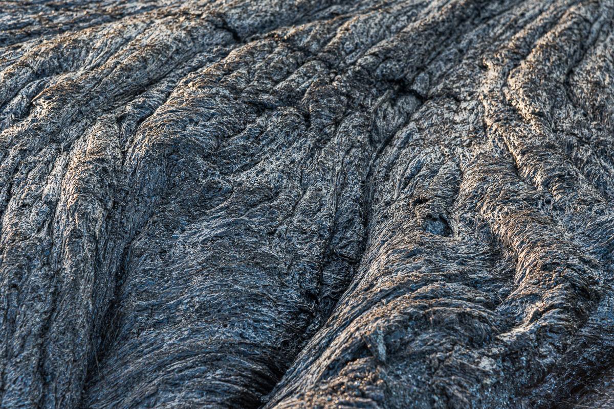 Gestold lava van de vulkaan Erta Ale