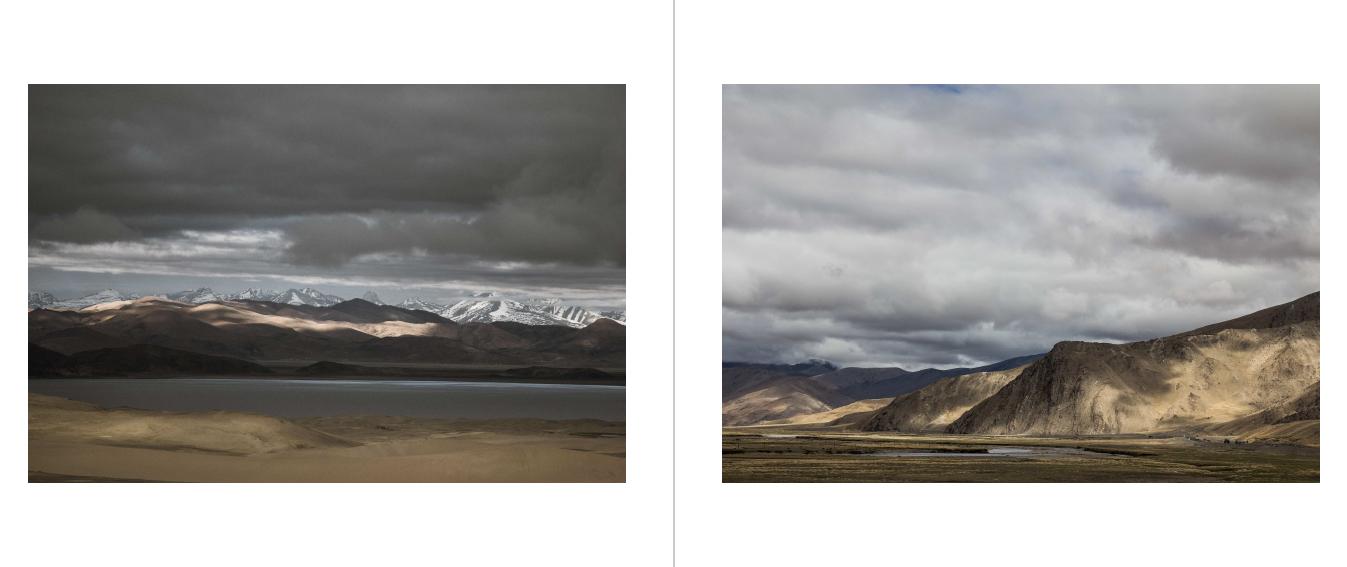 Het landschap van Tibet