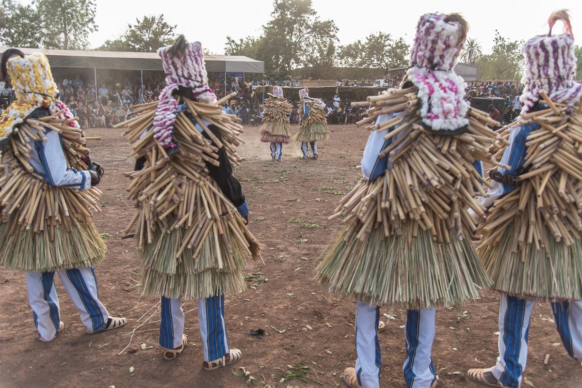 Maskerdans van de Tangali uit Burkina Faso