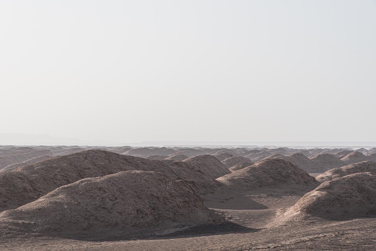 Golvend landschap in Dasht-e Lut in Iran