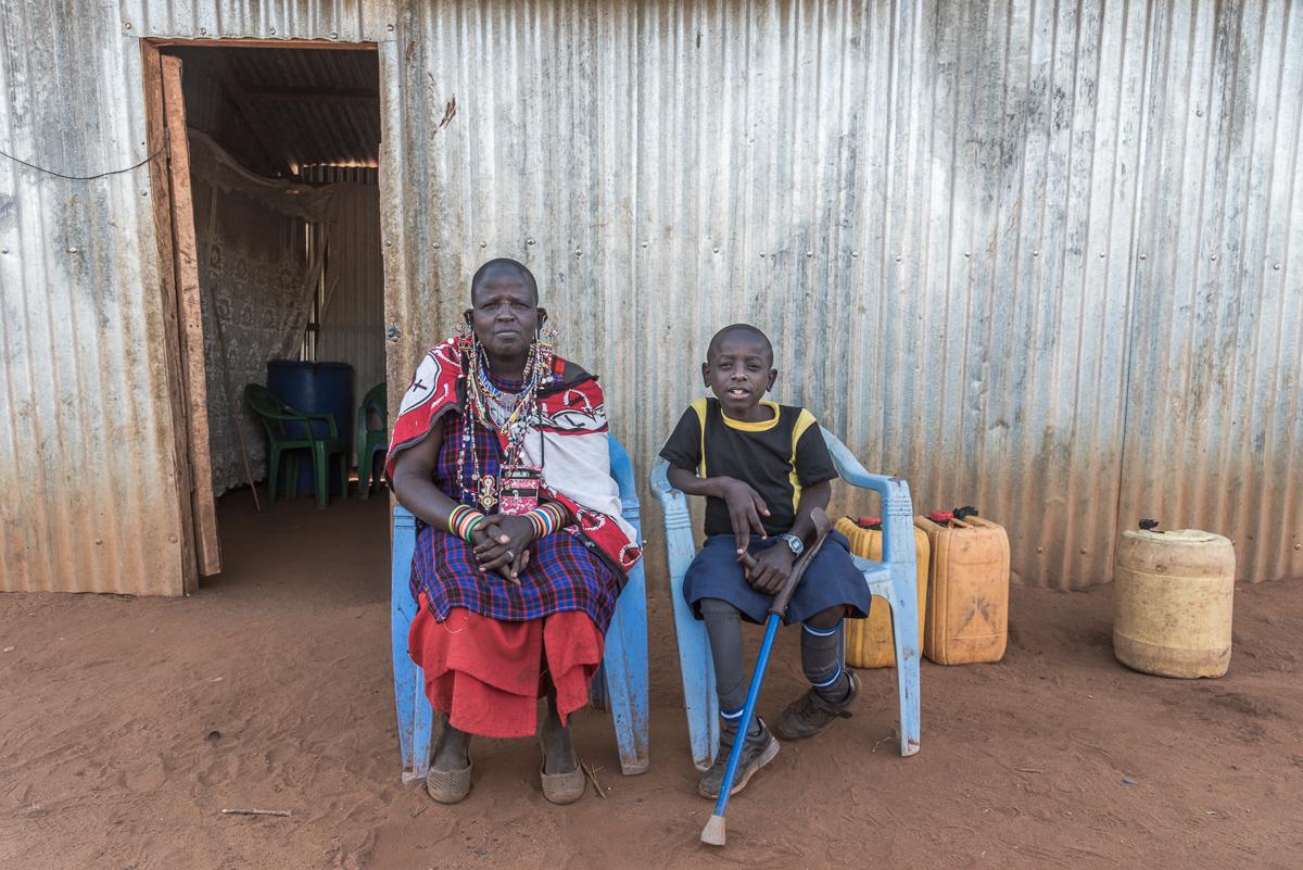 Sempeta samen met zijn moeder