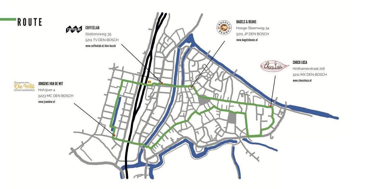 Routekaart Den Bosch